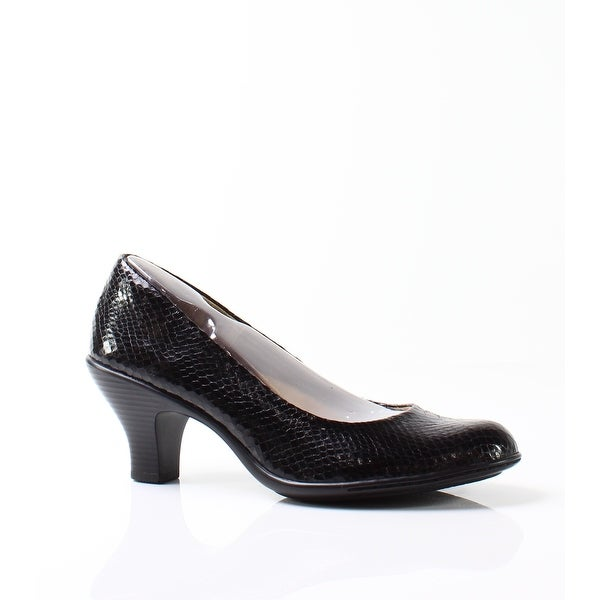 Softspots NEW Black Women's Shoes Size 8N Salude Snake Print Pump