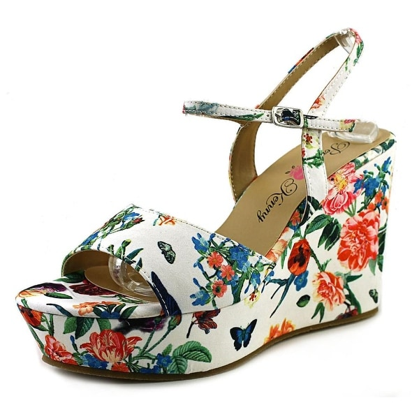 Penny Loves Kenny Neat Women  Open Toe Canvas  Wedge Sandal
