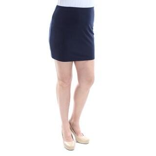 B DARLIN Womens New 1155 Navy Mini Pencil Casual Skirt 11 Juniors B+B