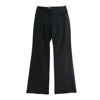 INC NEW Black Womens Size 10 Curvy Fit Wide Leg Ponte Knit Dress Pants