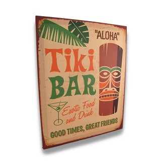 Tropical Tiki Bar Canvas Print 19.75 X 15.75 In.