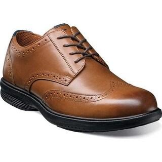 Nunn Bush Men's Maclin St. Wing Tip Oxford Tan Leather