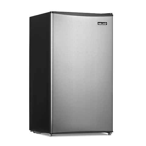 Newair 3.3 Cu. Ft. Gray Compact Mini Refrigerator with Freezer, Auto Defrost, Can Dispenser and Energy Star
