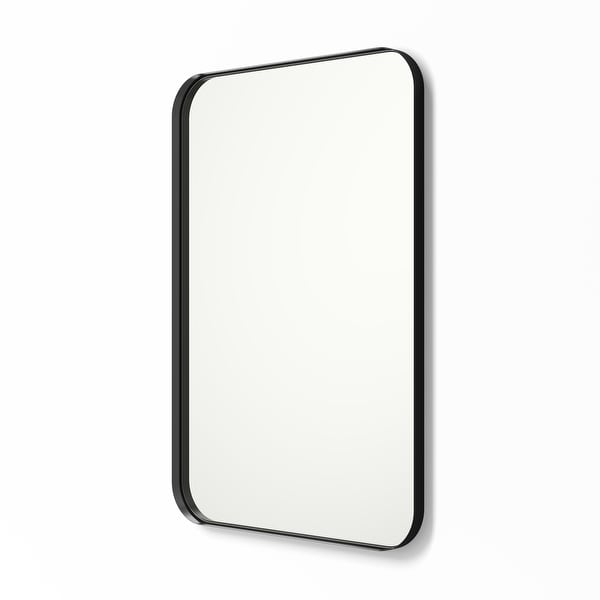 Metal Framed Rounded Rectangle Wall Mirror. Opens flyout.