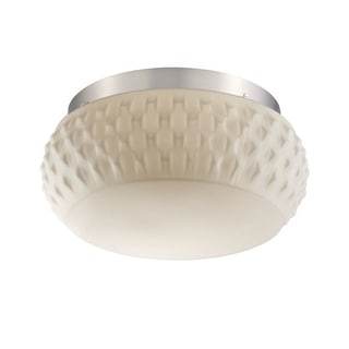 Philips Forecast 190265836 Ripple 2-Light Ceiling Light in Satin Nickel - Satin Nickel