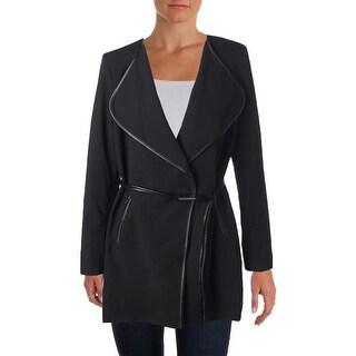 Calvin Klein Womens Faux Trim Long Sleeves Blazer - 10