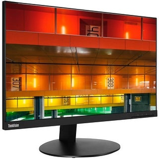 "Refurbished - Lenovo ThinkVision T24i 23.8"" Wide FHD IPS Monitor 6ms 4-USB 3.0 HDMI DP VGA"