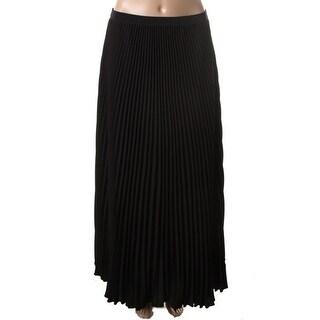 Anne Klein Womens Textured Shutter Pleat Pleated Skirt - 6