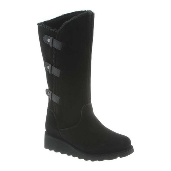 Bearpaw Women's Hayden Tall Boot Black II Cow Suede