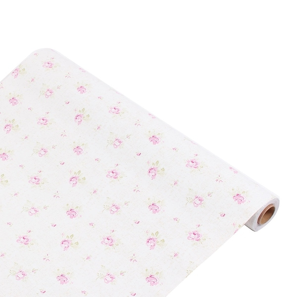Shop Flower Pattern Home Decoration Adhesive Wallpaper Pink White 33Ft Length - Free Shipping On Orders Over $45 - Overstock - 28887548