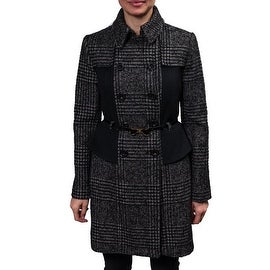 Betsey Johnson Women's Houndstooth Wool Coat