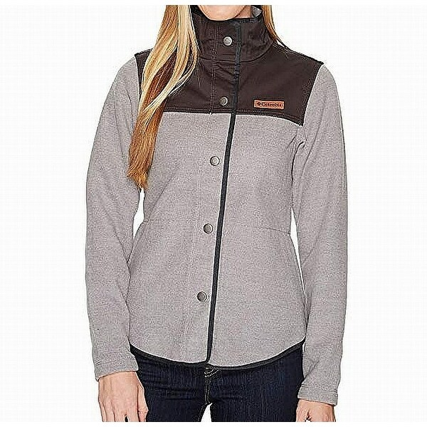 c00e40f1ae2e Shop Columbia Gray Black Women s Size Medium M Button-Down Textured Jacket  - On Sale - Free Shipping On Orders Over  45 - Overstock - 26927368