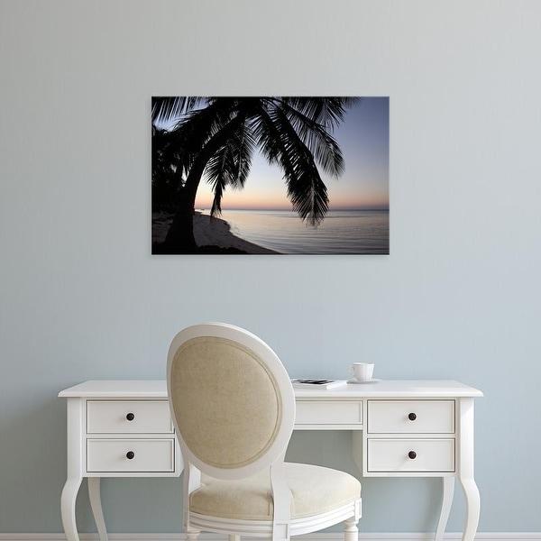 Easy Art Prints Brent Anderson's 'Palm Tree Sunset' Premium Canvas Art