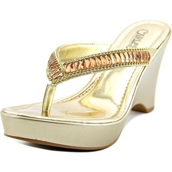 Carlos by Carlos Santana Karson Women Gold Sandals