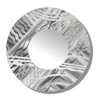 Statements2000 Silver Metal Decorative Wall-Mounted Mirror by Jon Allen - Mirror 101