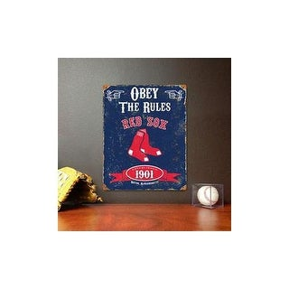 Party animal vsbos red sox embossed metal sign