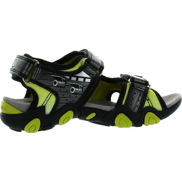 Shop Geox Boys Kids Sandal Strike Light Up Skull Fashion