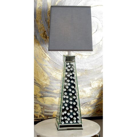 Silver Glass Glam Table Lamp 29 x 10 x 10