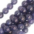 Czech Glass Beads. Round Druks 6mm, 1 Strand, Milky Alexandrite Moon Dust - Thumbnail 0
