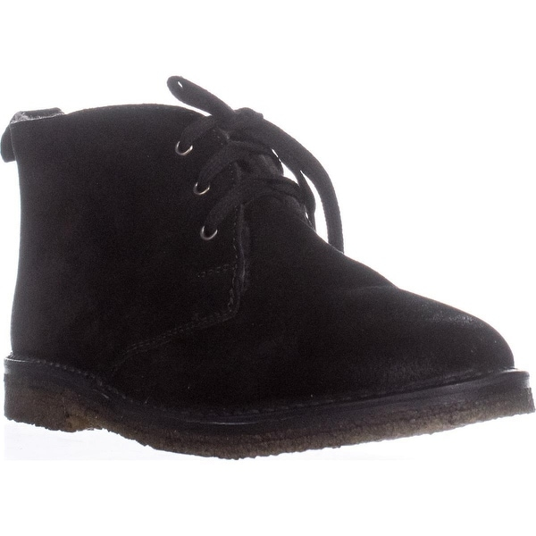 VINCE Candice Lace-Up Chukka Boots, Black Suede - 8.5 us