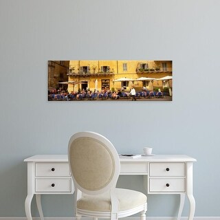 Easy Art Prints Panoramic Images's 'Rome Italy' Premium Canvas Art