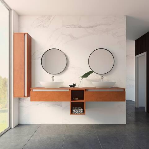 """New York 72"""" Vanity Base Cabinet Autumn Oak Wood 72 X 24 X 21,5 In - Autumn Oak"""
