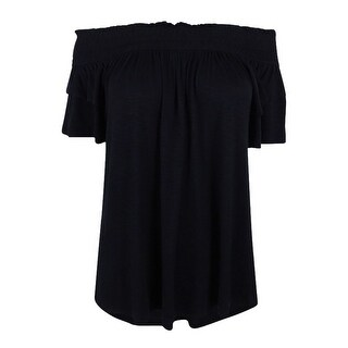 INC International Concepts Women's RuffleSleeve Off-Shoulder Top