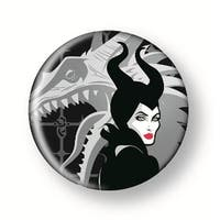 "Disney's Maleficent 1.5"" Button: ""Maleficent (with Dragon)"""