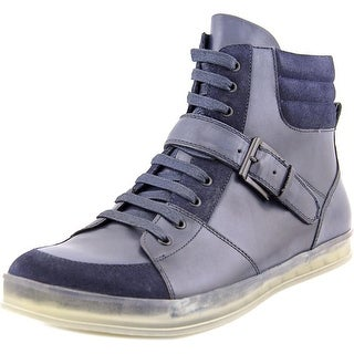 Kenneth Cole NY Brand Central Men Round Toe Leather Blue Sneakers
