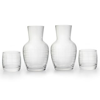 American Atelier 2 Sets Medallion Checker Night Carafe and Tumbler Set