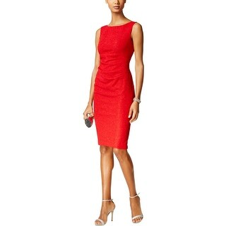 Jessica Howard Womens Cocktail Dress Glitter Sleeveless