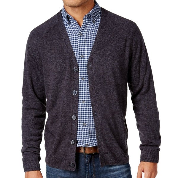Weatherproof NEW Gray Mens XL Soft-Touch Marled Knit Cardigan ...
