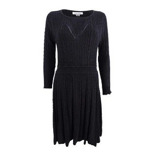 Calvin Klein Women's Fit & Flare Sweater Dress