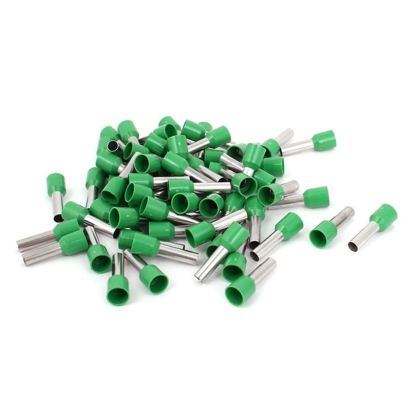 Unique Bargains 80 Pcs 6mm2 Crimp Wire End Terminal Insulated Bootlace Ferrule Connector Green