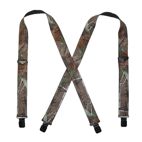Realtree Men's Elastic 2 Inch Wide Camouflage Clip-End Suspenders