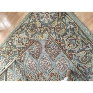 Safavieh Handmade Heritage Timeless Traditional Blue/ Grey Wool Rug (7'6 x 9'6)