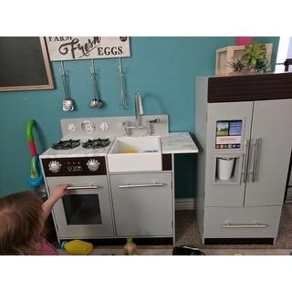 Teamson Kids Urban Luxury Play Kitchen, Grey/Espresso