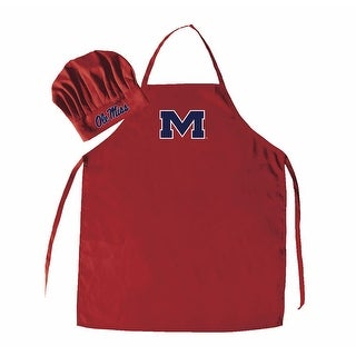 NCAA Mississippi Rebels Chef Hat And Apron