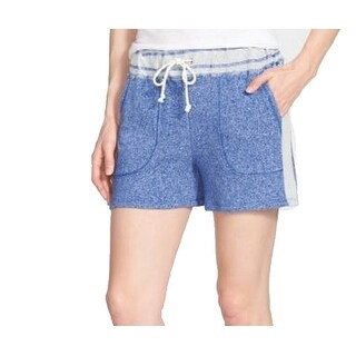 Two By Vince Camuto NEW Blue Womens Size Large L Mlange Terry Shorts
