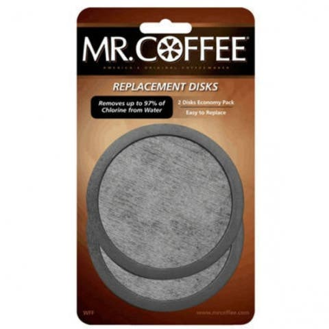 Mr. Coffee WFFPDQ-10-NP Water Filter Replacement Disc In PDQ Tray, 2 Disc