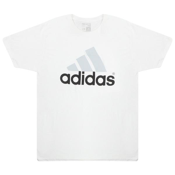 ... Shirts     Men s T-Shirts. Adidas Black Grey Performance Logo  Men  x27 s White ... 1a3abbca4c8a