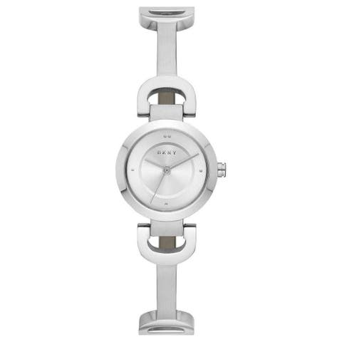 DKNY Women's NY2748 'City' Stainless Steel Watch - Silver