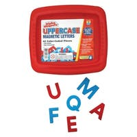 Educational Insights Uppercase Alphamagnets, Red and Blue, 42 Pieces