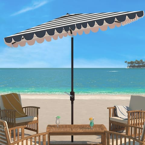 Safavieh Outdoor Living Vienna 6.5 x 10 Ft Rectangle Crank Umbrella