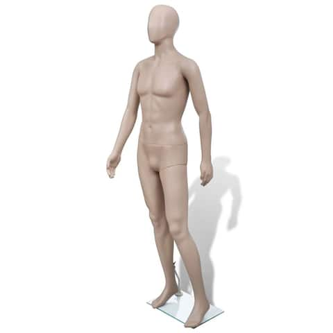 Adult Male Full Size Man Round Head Store Mannequin w/ Stand Display Clothes