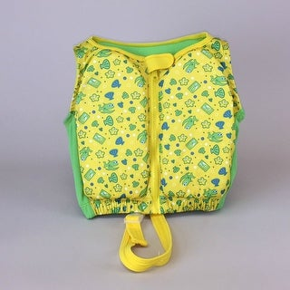Kids Stuff Yellow and Green Fishes Swim Vest Medium/Large 33-55 lbs