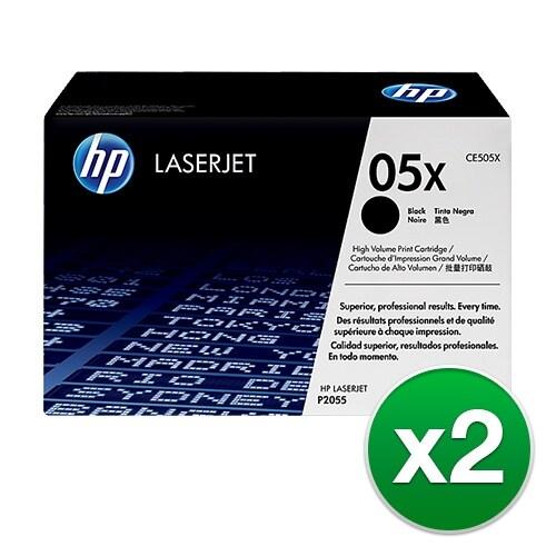 """HP 05X LaserJet Toner Cartridge - Black (2-Pack) 2-pack High Yield Black Contract LaserJet Toner Cartridges"""
