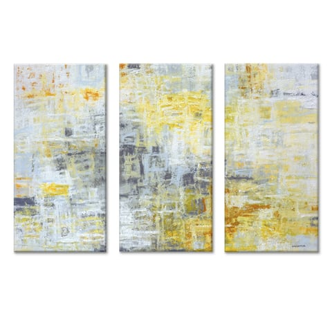 'Joy Within' 3 Pc Wrapped Canvas Wall Art Set by Norman Wyatt Jr.
