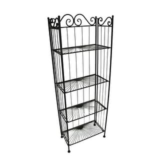 4 Shelf Scrolling Metal Bakers Rack 60 Inch