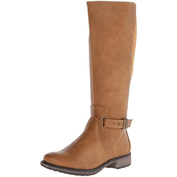 Baretraps Womens Selina Riding Boots Faux Leather Knee-High